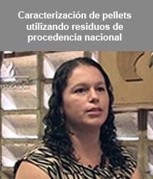 Caracterización de pellets utilizando residuos de procedencia nacional