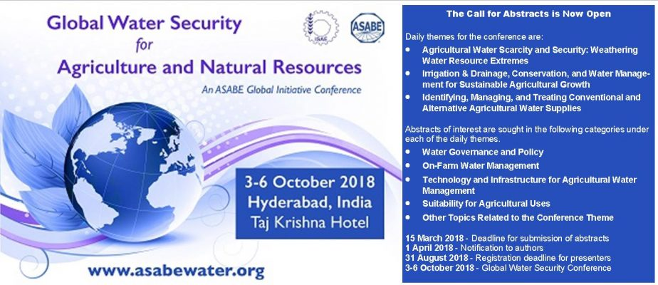 Global Water Security Conference  for Agricultural and Natural Resources