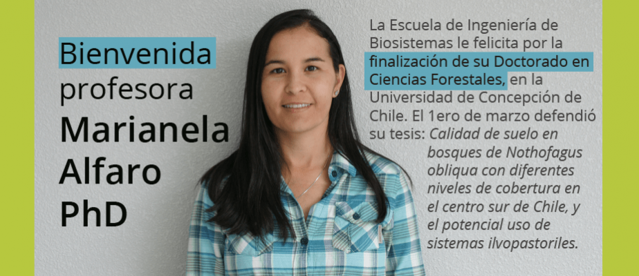 Bienvenida a la profesora Marianella Alfaro