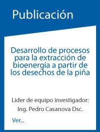 Desarrollo de procesos para la extración de bioenergía a partir de los desechos de piña.