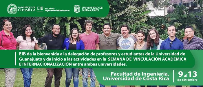 Bienvenida a profesores y estudiantes de la Universidad de Guanajuato.