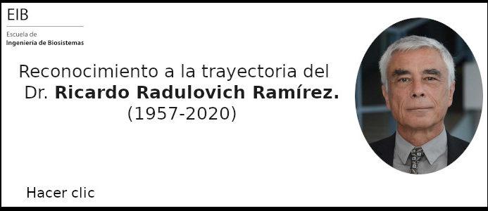 Reconocimiento a la trayectoria del Dr. Ricardo Radulovich Ramírez