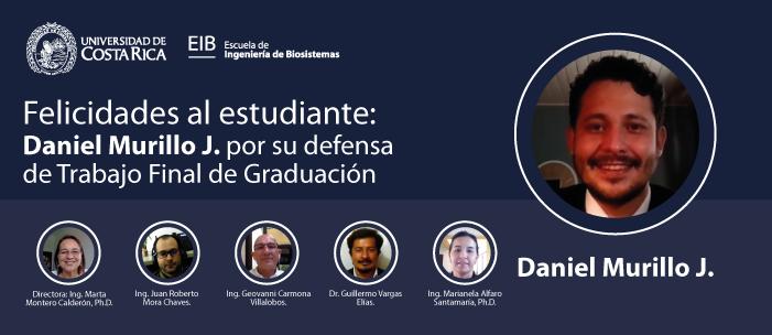 Defensa de tesis del estudiante Daniel Murillo J