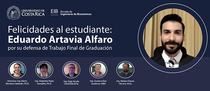 Defensa de tesis del estudiante Eduardo Artavia A