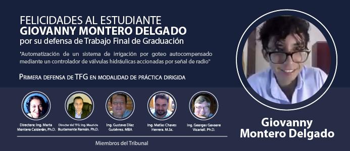 Defensa de Trabajo Final de Graduación del estudiante Giovanny Montero Delgado